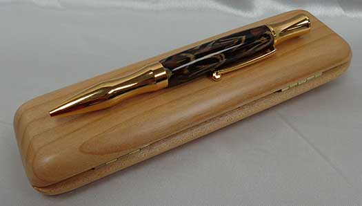 Gold Pheasant Feather Pen